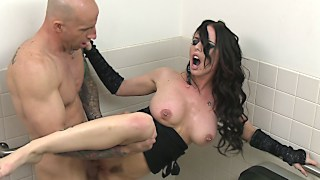 Brandy Aniston is waiting for you in the restroom
