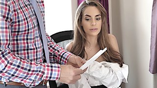 Horny secretary fulfills her duty