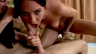 Nasty Brunette Jamie is a Fellatious Woman